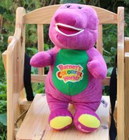 barney birthday - cm singing Barney with freinds plush stuffed baby toys electronic dolls creative children birthday gift602