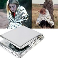 Wholesale Hot Portable Water Proof Emergency Survival Rescue Blanket Foil Thermal Space First Aid Sliver Rescue Curtain