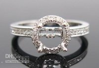 Wholesale 0 CT ROUND MM SOLID Kt WHITE GOLD DIAMOND Wedding Engagewent SEMI MOUNT SETTING RING