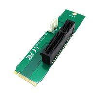 Wholesale 50pcs PCI Express PCI E X Female to NGFF M M Key Male Adapter Converter Card with Power Cable