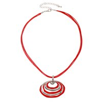 asian euro - Round Pendant Necklace Long Chain Zinc Alloy Enamel Hollow Out Pendants Necklace Euro Brand Jewelry NL160997