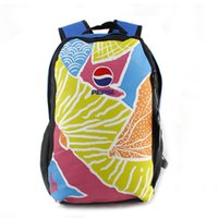 pepsi - ps0003 new nylon folding bag Waterproof bag Rubber Cute Colorful Leisure travel backpack Frozen pepsi pattern