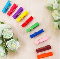 Wholesale Hot Selling Mini wooden paper clips ETH082P Photo clips Wooden note Pegs office accessories