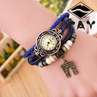 arc antique - New Hot Sale Original High Quality Women Genuine Leather Vine Watches Bracelet Wristwatches Arc DE Triomphe Pendant