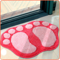 Wholesale new disign cartoon feet cm Textile Blanket Rugs Bedroom Floor Carpets Living Room Mats Bathroom Doormat pad home sofa table