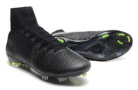 real football boots - cheap Blackout All Black Superfly IV Men s soccer cleats soccer boots football shoes football boots sneakers Real Carbon Fiber full US sizes