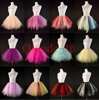 Wholesale 100PCS LJJH1018 candy color women tutus skirt dance dresses Adult bubble skirt girl tutu dress ballet skirt Cosplay skirt Clothing