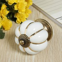 Wholesale Min Order Pumpkin Shape Metal Knob on a Drawer White pc