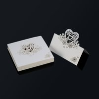 banquet event order - Event Party Supplies Romantic White Carved Heart Table Mark Name Place Card for Wedding Birthday Banquet Decoration pack order lt no t