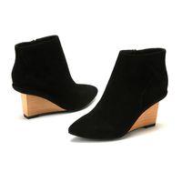 ladies high heel boots - D fuse Brand Ladies Wedge Ankle Boots suede high heel wedge ankle boots