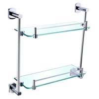 Wholesale Cody high quality stainless steel double bathroom shelving bathroom storage rack H314
