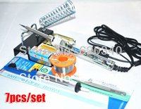 Wholesale 7 set EU Plug Adjustable constant temperature Lead free Internal heating electric soldering iron V W