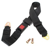 Wholesale Universal Car Van Truck Seat Lap Belt Two Point Adjustable Safety Buckle Point order lt no track