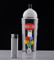 beautiful paintings - Beautiful Straight Glass Bong KRYLON Spray Can Paint glass water pipe Recycler Glass Oil Rigs Bongs with nail and dome