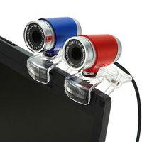 Wholesale NEW Fashion Red Blue USB Webcam M HD PC Laptop Desktop Camera Webcams For Computer High Quality