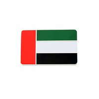 arab cars - 8cmx5cm Car Styling D Aluminum National United Arab Emirates Flag Sticker Decals Decorative Emblem Accessories High Quality