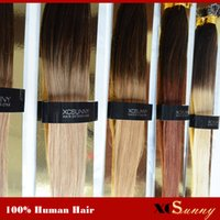 Wholesale XCSUNNY A Peruvian Hair Extension Nano Human Hair g package g Ombre Human Hair Extensions Blonde Nano Ring Hair Extension
