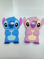 ear covers - 3D Stitch Lilo Movable Ear Cartoon Soft Silicone Rubber Gel Case For Samsung Galaxy S6 SVI G9200 Lovely Animal Gel skin Cute cover