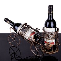 bicycle wine bottle holder - NEW Creative chasing European wine holders bike models wine rack Bicycle double bottle paragraph