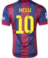 Wholesale Thailand Quality Messi Soccer Jerseys Mens tops Soccer Jerseys Football Jersey
