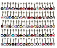 Wholesale Factory Europe Small stainless steel tongue piercing Tongue piercing jewelry tongue piercing ring mixed patter