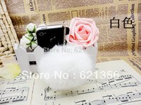 bargain mobile phone - New Item Bargain Price Fashion Sytle Top Grade Cony Hair Ball Bulb Cell Phone Dust Plug Mobile Phone Strap Chain PlugXZZ353
