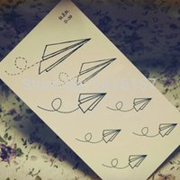 airplane patterns - Min order is mix order Hot Paper Airplane Pattern design Temporary Waterproof body art Tattoo Stickers Unisex D