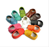 Wholesale New Fashion Brand Baby Shoes First Walker Cow Leather Lace Fringe Newborn Sapato Baby Moccasins Kids Girls Shoes free shippin