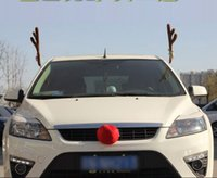 christmas fabric - new Reindeer Antlers and Red Nose Car Kit Christmas Fun Rudolph Reindeer Ears for all vehicls car