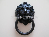 antique brass lion door knocker - Drawer Pulls Knobs Handles Rings Lion Head Antique Brass Black Gold Furniture Knob Door Knocker Cabinet Handles Hardware