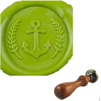 anchor seals - Vintage Anchor and Olive Leaf Custom Picture Wedding Invitation Wax Seal Stamp