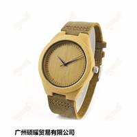 Nuevos relojes de bambú venden como relojes de la correa de cuero de alta calidad forma la tabla de madera superventas Europa y América del estilo libre sh