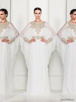 abaya maxi dress - Zuhair Murad Dresses White Chiffon Evening Dresses Dubai Fancy Kaftans Abaya Jalabiya Ladies Maxi Dress Wedding Gown