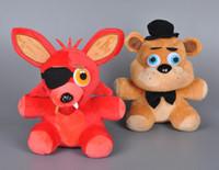 bear collectibles - Retail cm Five Nights At Freddy s FNAF Foxy Freddy Fazbear Bear Plush Toy Cartoon Five Nights At Freddy Stuffed Collectibles Doll Toys