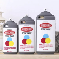 Wholesale Spray Paint Can Wholesale - iPhone Silicone Case 3D Spray Paint Can Bottle Soft Silicone Case Back Cover iPhone6 Shell Flip Rubber Skin for iPhone 5s 6 Plus iphone6s
