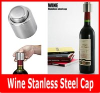 Wholesale New Stainless Steel Champagne Stopper Wine Stainless Steep Vacuum Cap Seeled Wime Storage Bottle Stopper Plug Bottle Cap Pressing