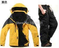 Wholesale Men s outdoor winter warm ski clothing brand sportswear hooded jacket windproof waterproof hiking camping ski pants