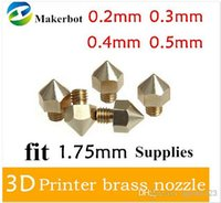 Wholesale 5pcs D Printer Nozzle Optional Sizes mm mm mm mm Extruder Print Head For MM Makerbot