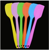 silicone spatula - Simple Silicone Cake Scraper Cake Cream Butter Spatula Mixing cooking Scraper Brush Silicone Baking Tool CCA1947
