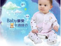 Wholesale Neonatal leotard Korean foreign trade Baby Romper Bamboo fiber baby climbing clothes boy and girl open files SLB