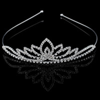Wholesale 2015 Lovely Girls Crystals Crowns Accessory New Arrival Beautiful Rhinestones Tiaras Kids Headband Hair Clip accessories