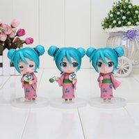 Wholesale 1 set set new arrival Nendoroid Hatsune Miku PVC Action Figure high quality retail