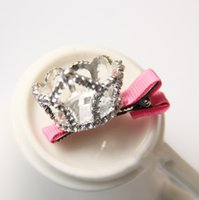 active hair clip - Children s Baby Hair Accessories Diamond Crown Children Hair Clips Girls Head Pieces Cheap Ts t578