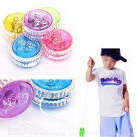 Wholesale 5 Colors Shiny Yoyo Balls Children Gift Toys Cute Plastic Rotation Balls Kids Educational Toys Promotion SD359