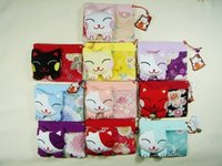 Wholesale Japanese Collection Kimono Brocade Chirimen Lucky Cat Card holders name card holders Genuine Goods100