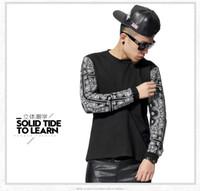 Wholesale NEW Allover Paisley Bandana Print Graphic Tee T Shirt Black White Tyga Hip Hop