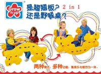 plastic playground - Grow n Up in Multi function PP Seesaw and Pinic Table for Childrenm Playground Furniture and Toy