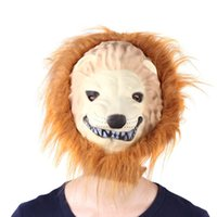 Wholesale Great Lion King Mask of Terror Animal Dress Up Simulation Funny Costume Halloween Props Masquerade Cosplay