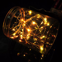 Wholesale CR2032 Batteries Operated m leds Copper Wire Micro LED fairy string Lights Christmas Xmas Party Wedding Decorations Light