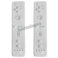 Wholesale 2PCS Wireless For Wiimote Remote Comfortable Gamepad Compatible Controller For Nintendo For Wii Video Game order lt no track